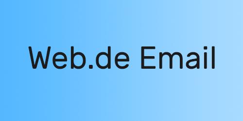 Web.de Email Account